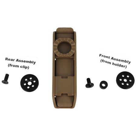 ESP Single Fixing Bracket on a MOLLE 360° khaki (UBC-04-1 KH)